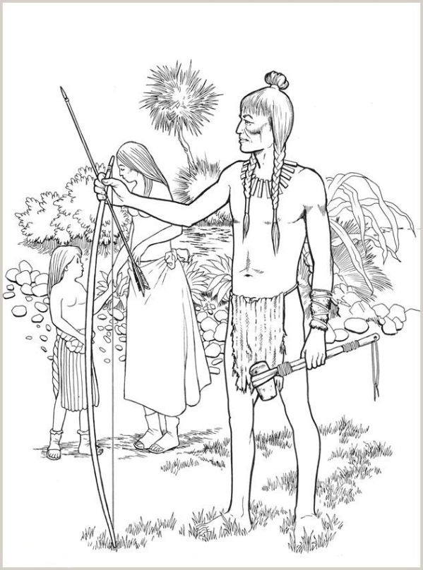 ausmalbilder für kinder indianer 3