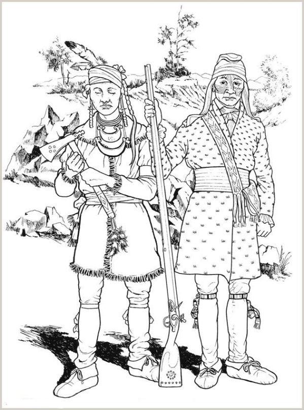 ausmalbilder für kinder indianer 7
