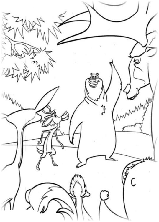 Ausmalbilder für Kinder Jagdfieber 13