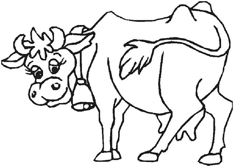 ausmalbilder für kinder kuh 16