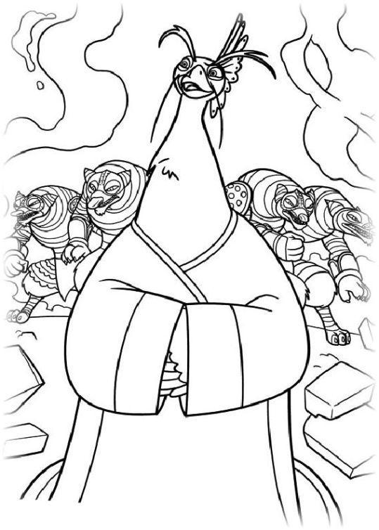 ausmalbilder für kinder kung fu panda 2 12
