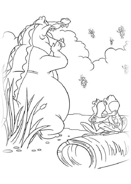 ausmalbilder für kinder kuss den frosch 24