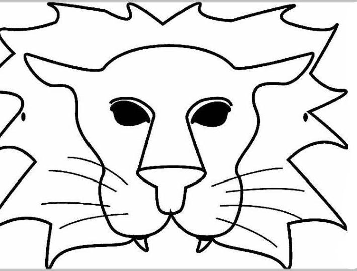ausmalbilder für kinder masken 15