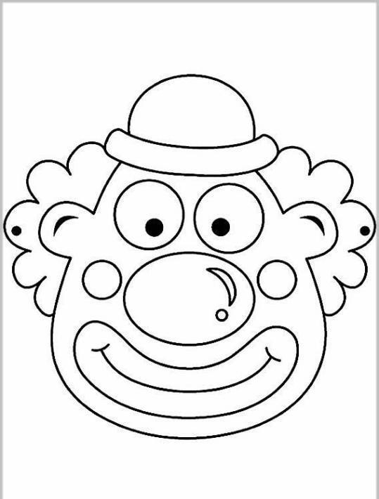 ausmalbilder für kinder masken 7