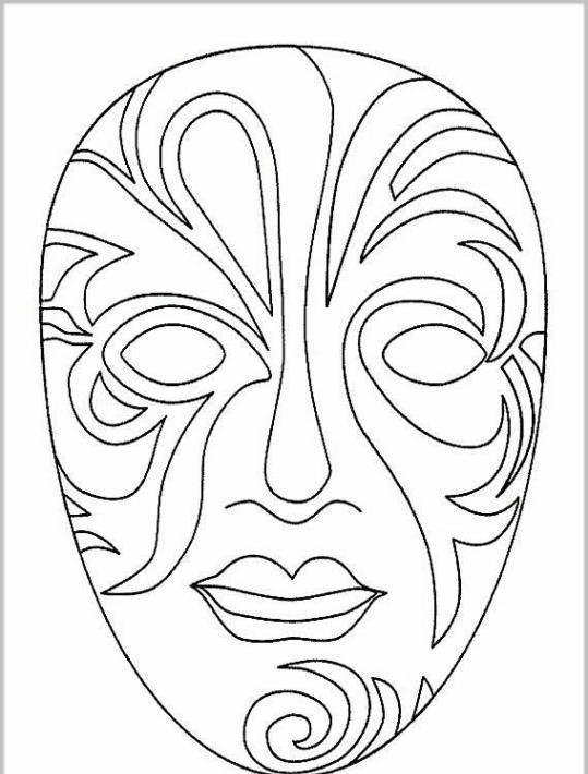 ausmalbilder für kinder masken 8