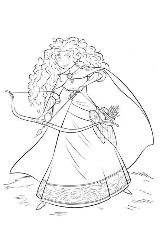 ausmalbilder für kinder merida  legende der highlands 1