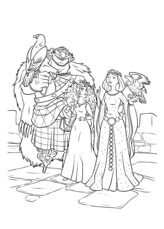 ausmalbilder für kinder merida - legende der highlands 6
