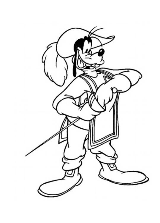 Micky, Donald, Goofy – Die drei Musketiere Ausmalbilder Malvorlagen ...