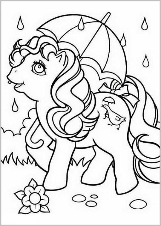 ausmalbilder für kinder my little pony 10