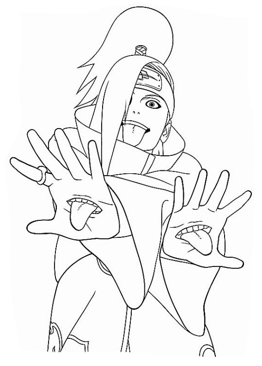 Sasuke Coloring Pages Print