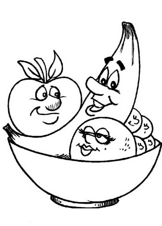 ausmalbilder für kinder obst und gemuse 35