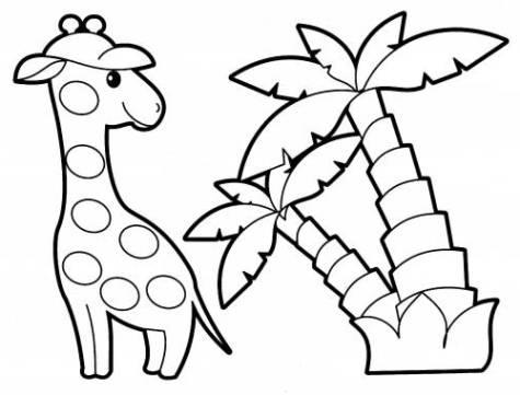 Palmen Ausmalbilder Malvorlagen kostenlos ausdrucken