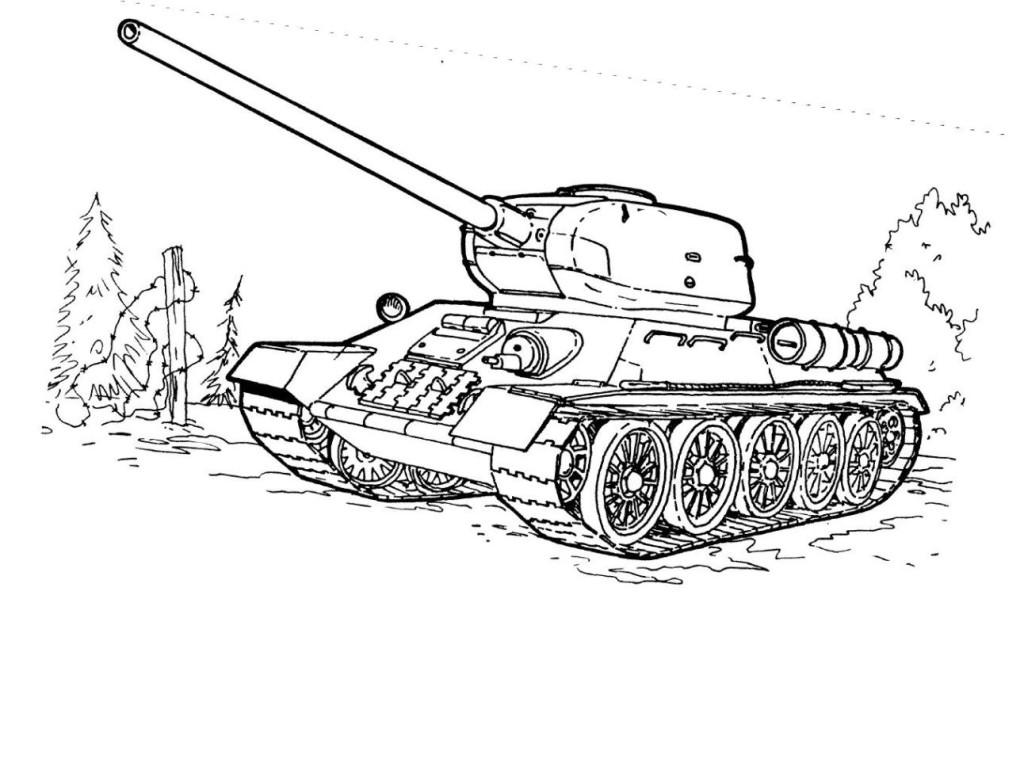 ausmalbilder für kinder panzer 1