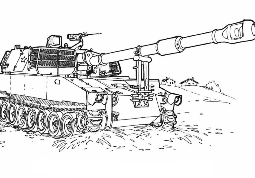 Ausmalbilder Für Kinder Panzer 10