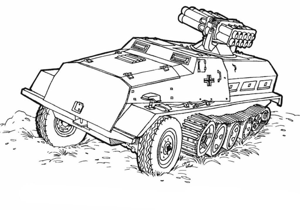 Ausmalbilder Für Kinder Panzer 11