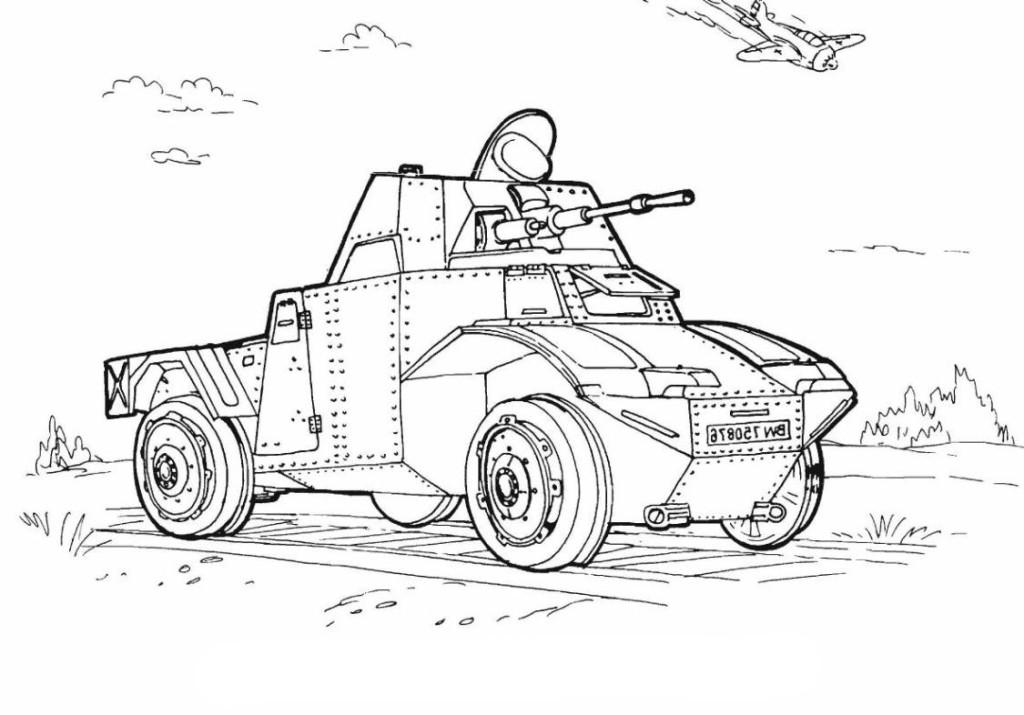 Ausmalbilder Für Kinder Panzer 12