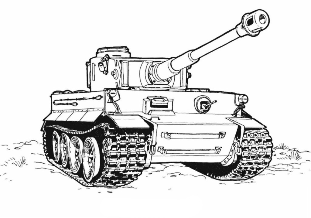 panzer tanks coloring pages - photo#35