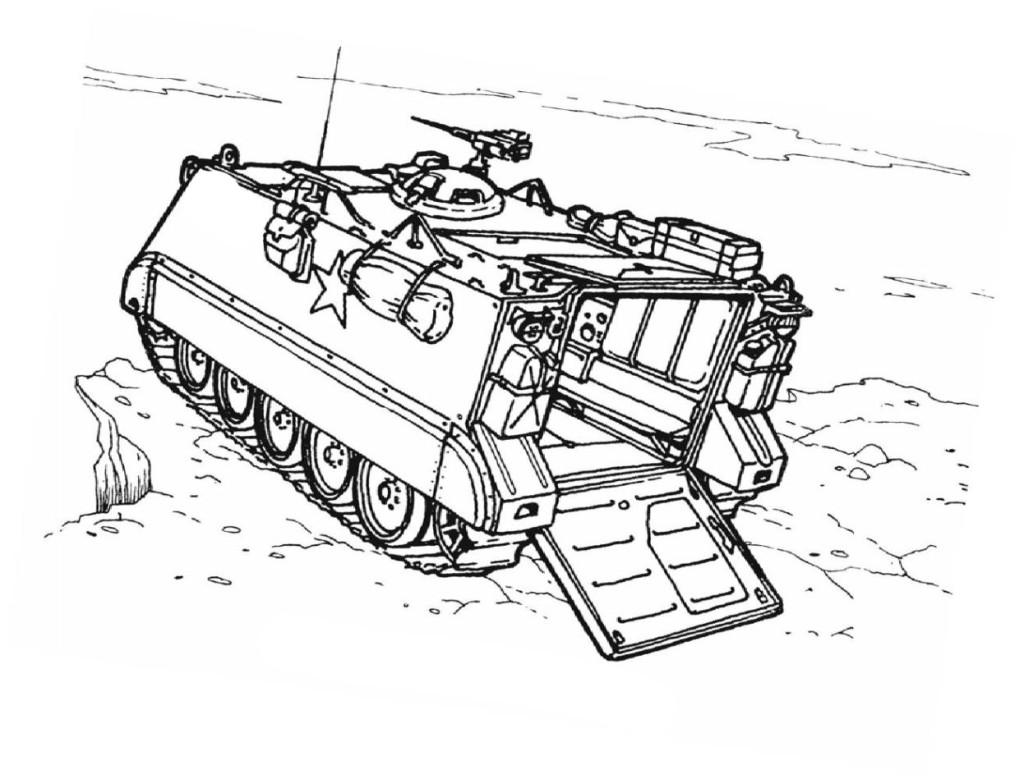Ausmalbilder Für Kinder Panzer 5
