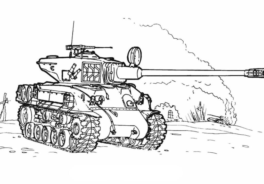 Ausmalbilder F 252 R Kinder Panzer 6