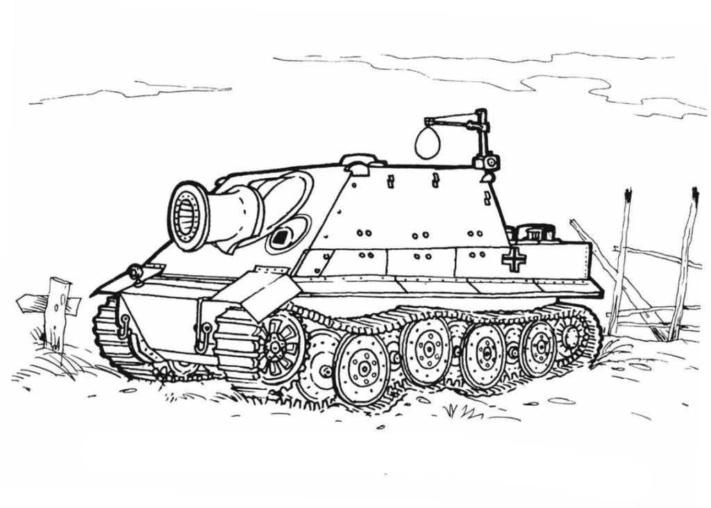 ausmalbilder für kinder panzer 9