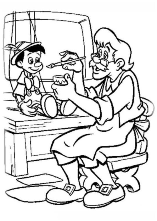 ausmalbilder für kinder pinocchio 2