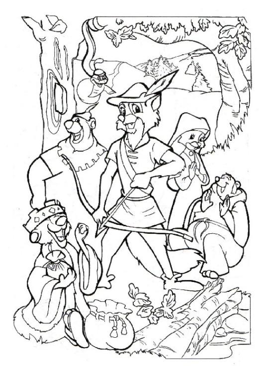 Ausmalbilder Für Kinder Robin Hood 1