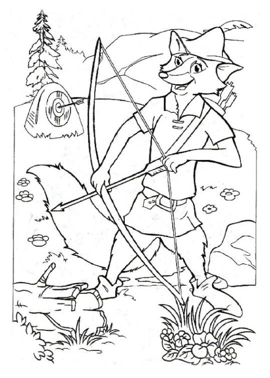 Ausmalbilder F 252 R Kinder Robin Hood 2