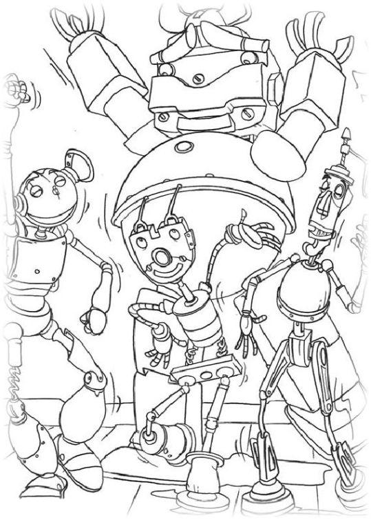 ausmalbilder für kinder roboter 16