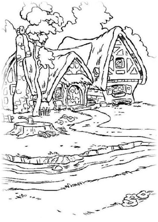 ausmalbilder für kinder schneewittchen und die sieben zwerge 8