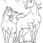ausmalbilder pferde spirit - kostenlose stundenpläne zum