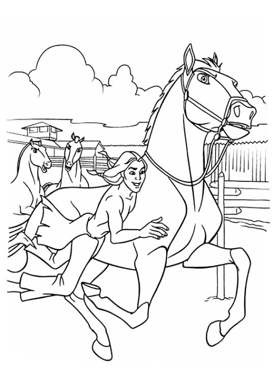 Ausmalbilder F 252 R Kinder Spirit Der Wilde Mustang 6