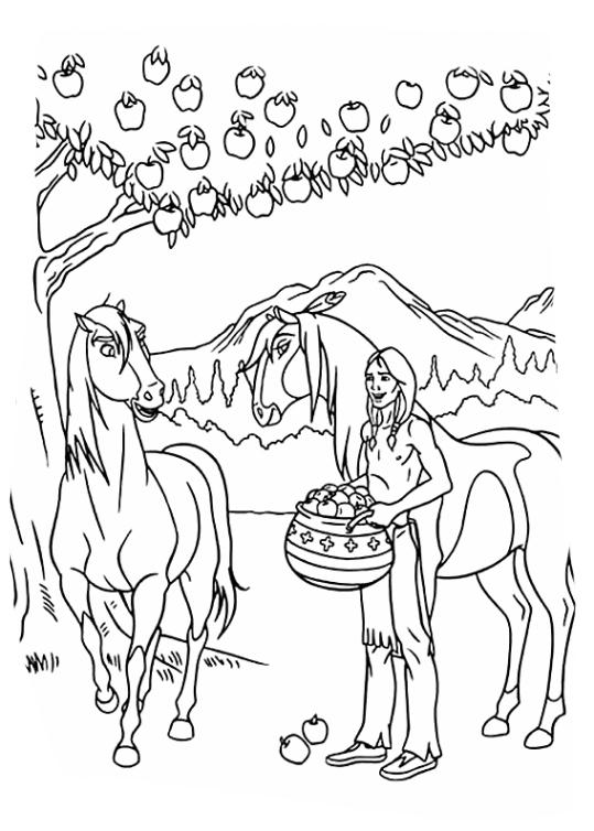 Ausmalbilder F 252 R Kinder Spirit Der Wilde Mustang 9