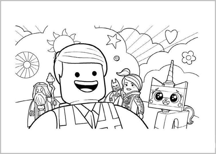 ausmalbilder für kinder the lego movie 24