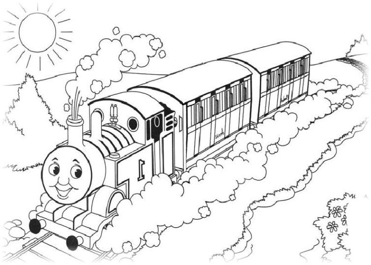 ausmalbilder f r kinder thomas die kleine lokomotive 18. Black Bedroom Furniture Sets. Home Design Ideas