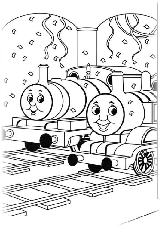 ausmalbilder für kinder thomas die kleine lokomotive 2