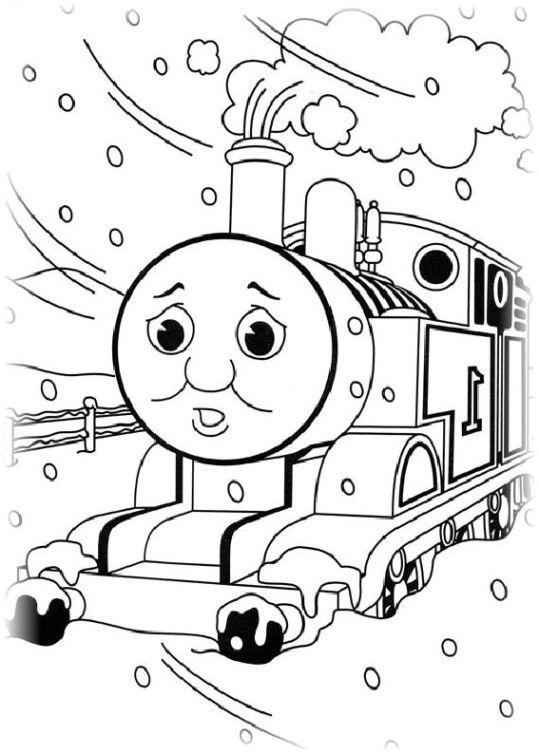 ausmalbilder für kinder thomas, die kleine lokomotive 3