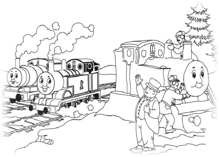Ausmalbilder für Kinder Thomas, die kleine Lokomotive 4