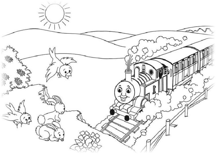 ausmalbilder f r kinder thomas die kleine lokomotive 7. Black Bedroom Furniture Sets. Home Design Ideas