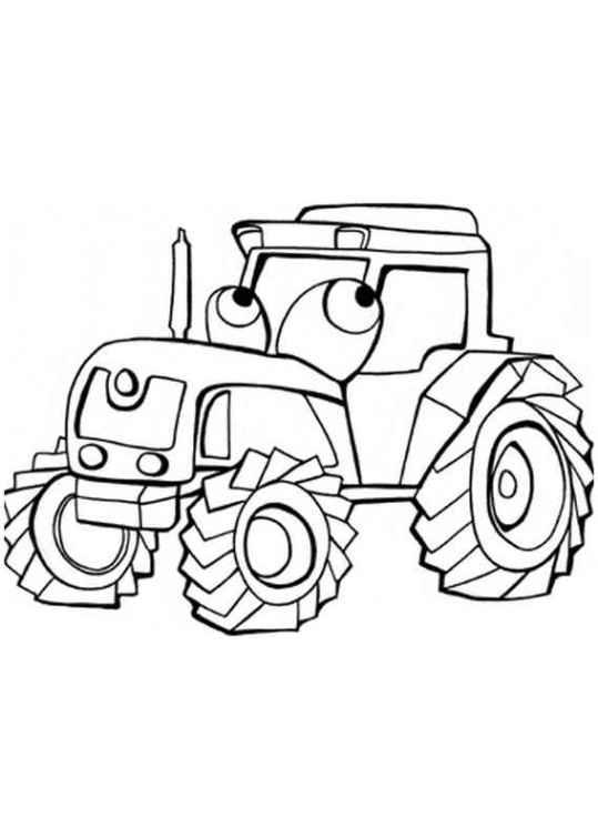 ausmalbilder für kinder traktor 10