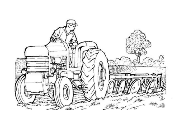 ausmalbilder für kinder traktor 11