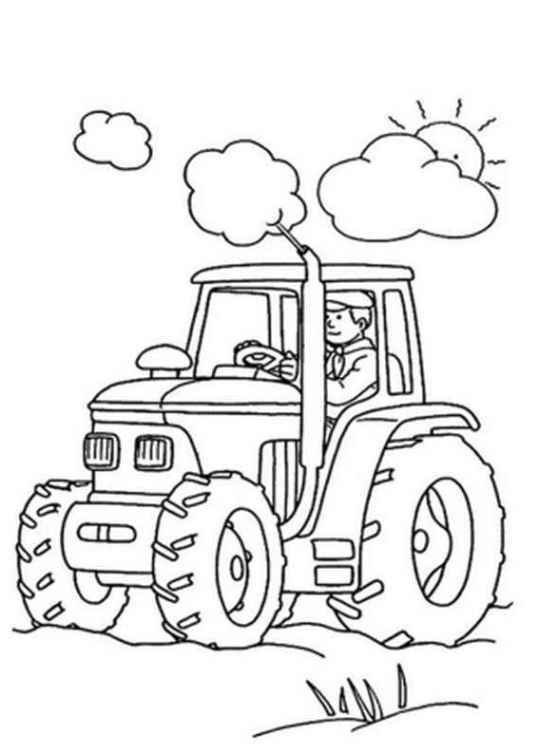 ausmalbilder für kinder traktor 12