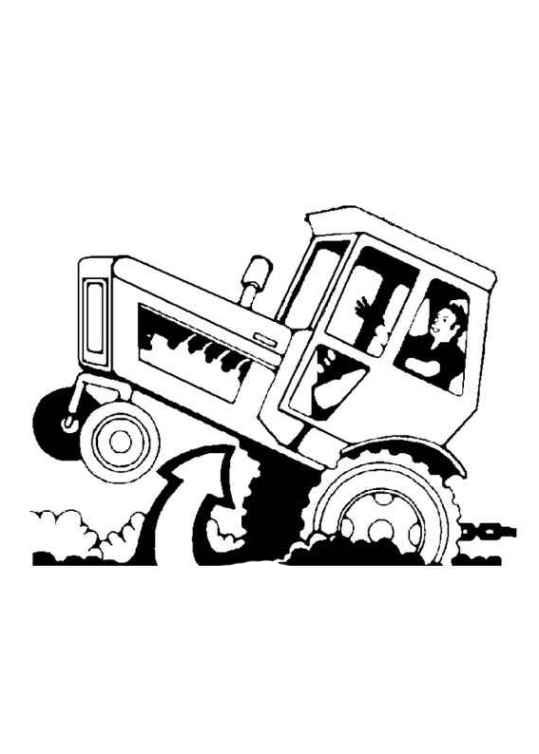 ausmalbilder für kinder traktor 4