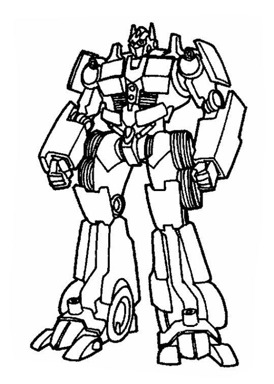 Optimus Coloring Pages
