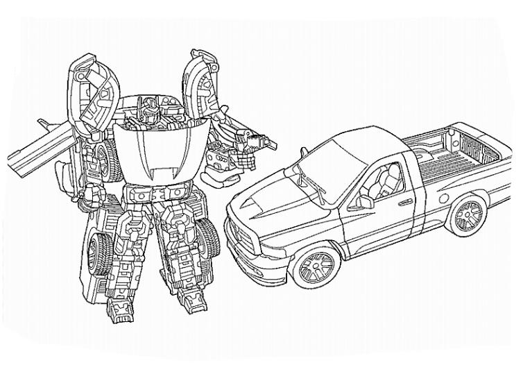 ausmalbilder f u00fcr kinder transformers 7