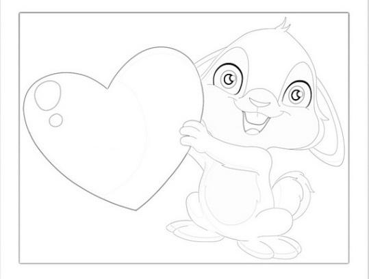 ausmalbilder für kinder valentinstag 10