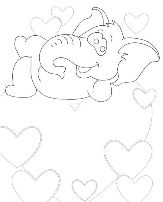 ausmalbilder für kinder valentinstag 13