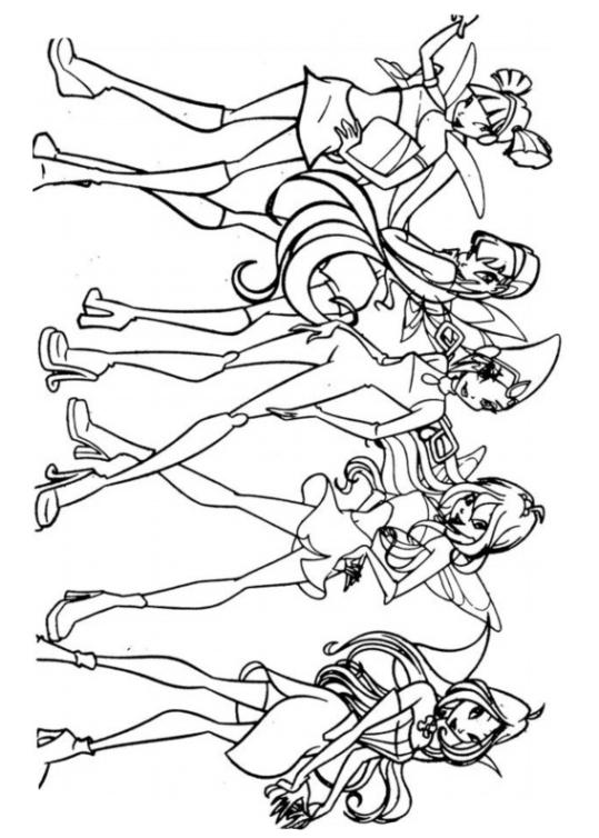 Ausmalbilder für Kinder Winx Club 3