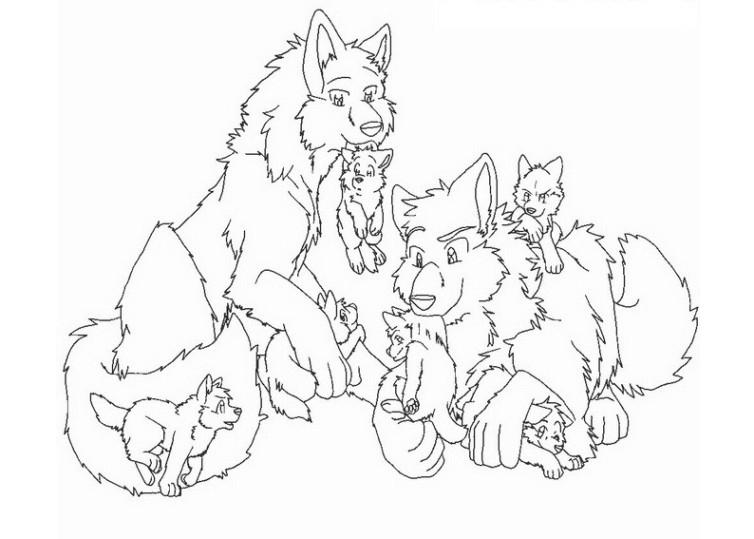 ausmalbilder wolfskopf