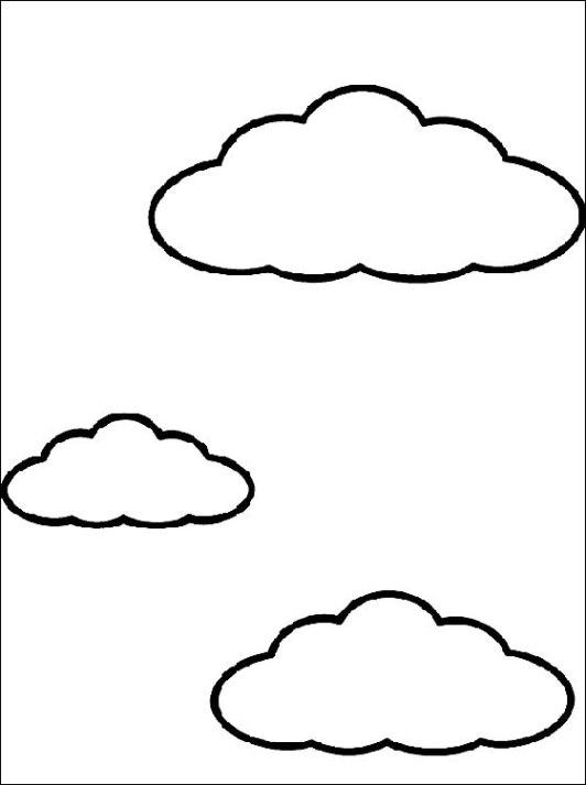 Wolken Ausmalbilder Malvorlagen kostenlos ausdrucken