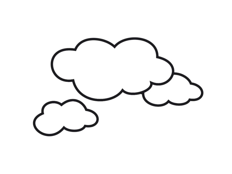 free cloud coloring pages - photo#6